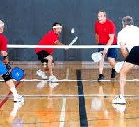 When it rains outside, Pickleball goes on inside!