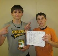 Youth prize winners--a jar of pickles!